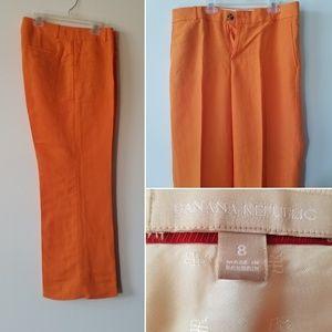 Orange Banana republic linen slacks